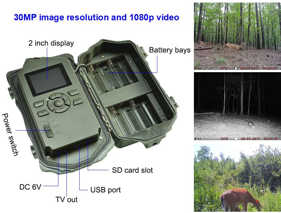 30MP hunting cameras